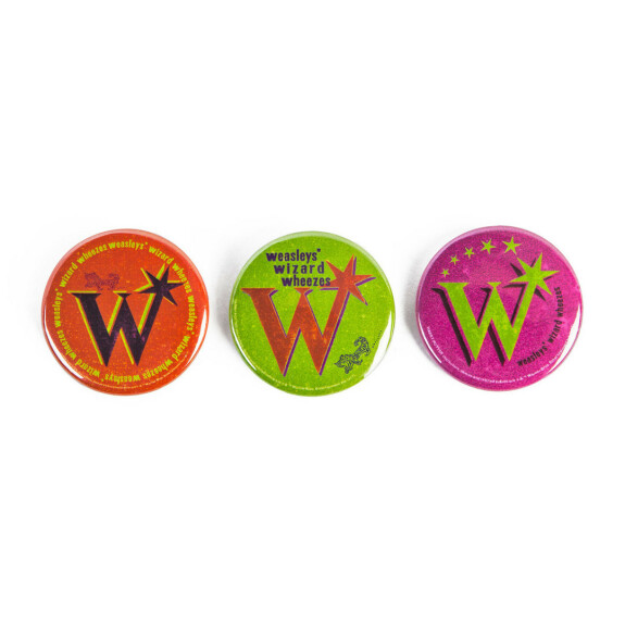 Lot de 3 badges Weasley Farces pour sorciers facétieux MinaLima