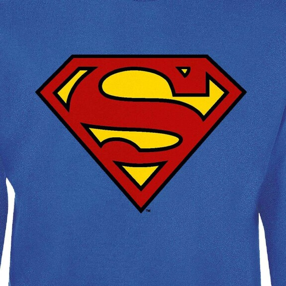 Sweat Superman Logo couleur bleu