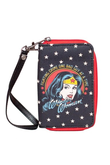 Portefeuille Wonder Woman comics zippé