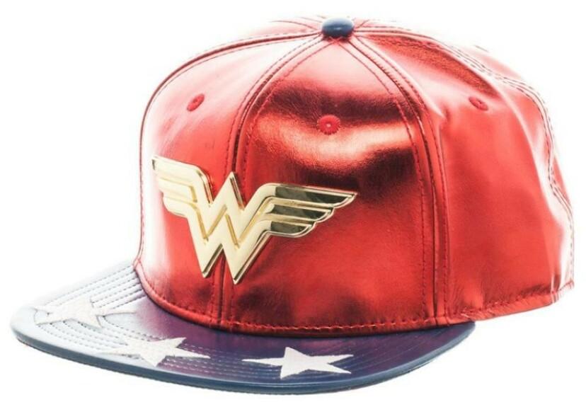 Casquette Wonder Woman rouge et bleue visière plate