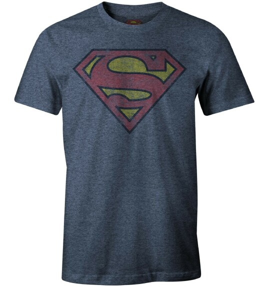 T-shirt Superman logo grunge