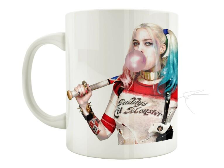 Mug Harley Quinn chewing gum et batte de base-ball Suicide Squad