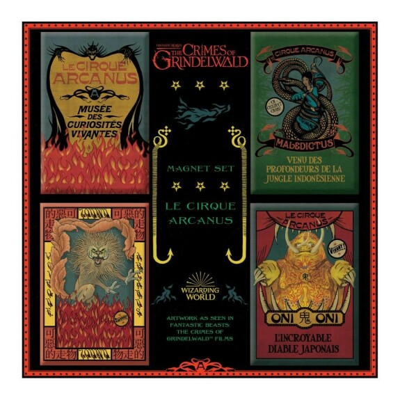 Lot de 4 magnets du Cirque Arcanus MinaLima