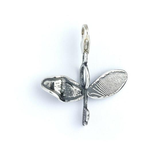 Charm à clip en argent 925ème Clé volante avec aile cassée
