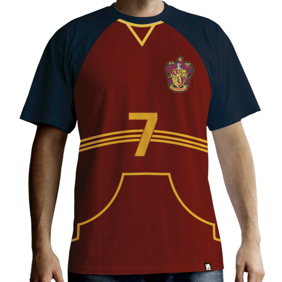 T-shirt Maillot de Quidditch Gryffondor rouge premium
