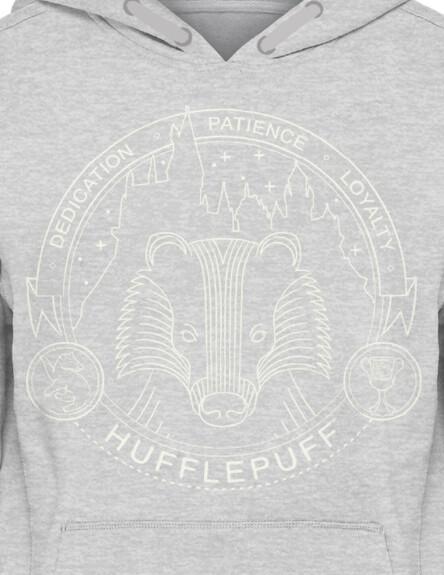 Sweat-shirt Poufsouffle gris