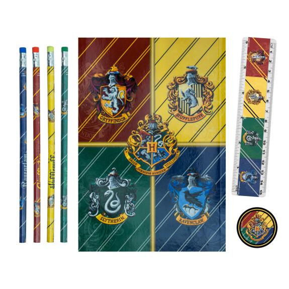 Set de papeteries Maisons de Poudlard carnet et crayons