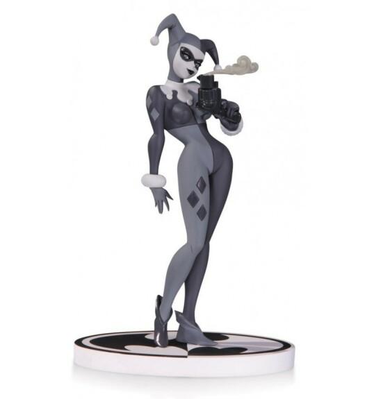 Harley Quinn avec revolver figurine comic Batman Black and White