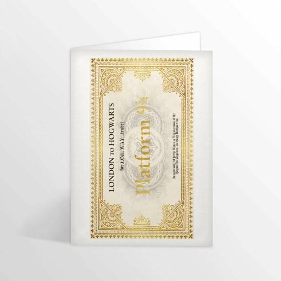 Carte 2 volets Ticket pour le Poudlard Express MinaLima