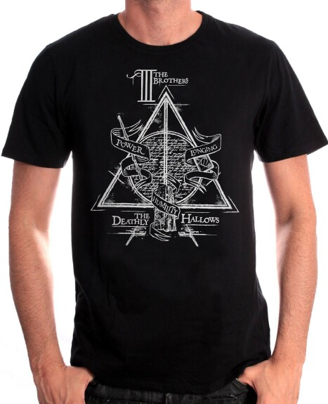 T-shirt Reliques de la Mort The Three Brothers noir