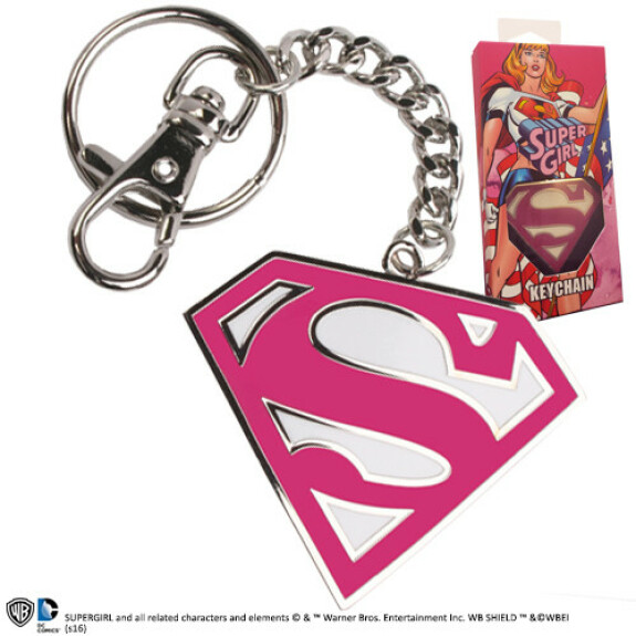 Porte clés logo Supergirl rose