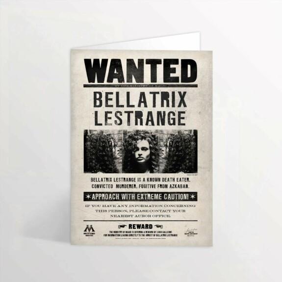Carte de voeux lenticulaire Wanted Bellatrix Lestrange MinaLima
