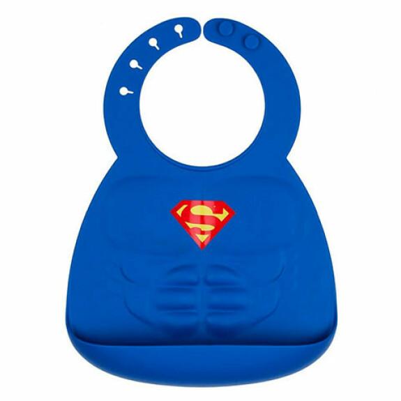 Bavoir Silicone Superman