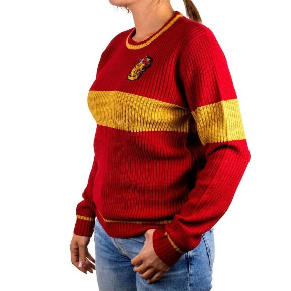 Pullover Femme Gryffondor rouge et jaune