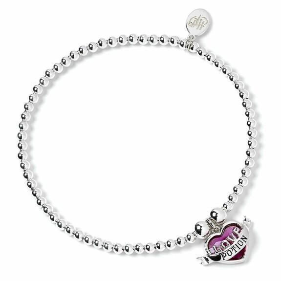 Bracelet à perles Filtre d'Amour Argenté avec Cristaux de Swarovski