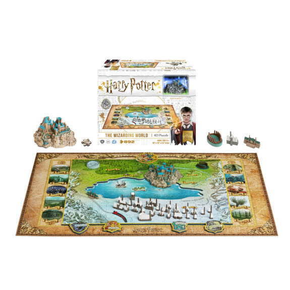 Puzzle The Wizarding World – 4D Cityscape 892 pièces