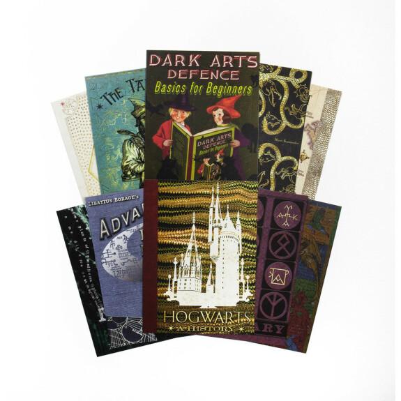 Lot de 20 cartes postales - les couvertures de livres de Poudlard