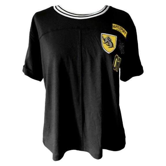 T-shirt Femme Poufsouffle Patches noir