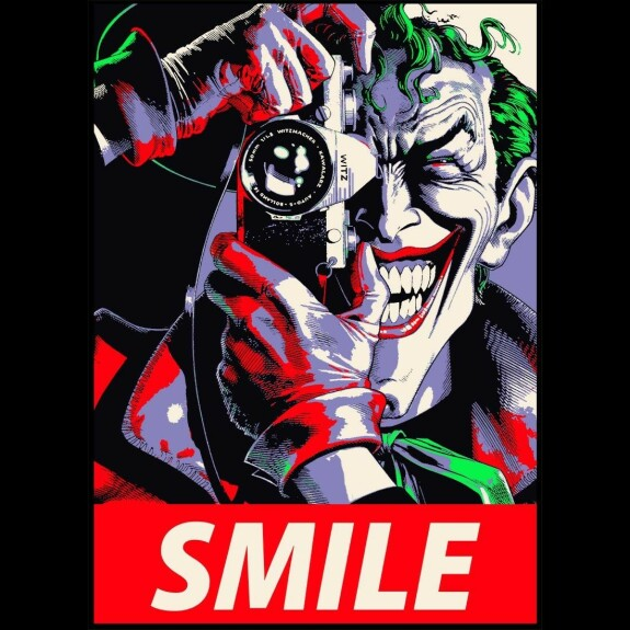 Sweatshirt Joker Smile noir