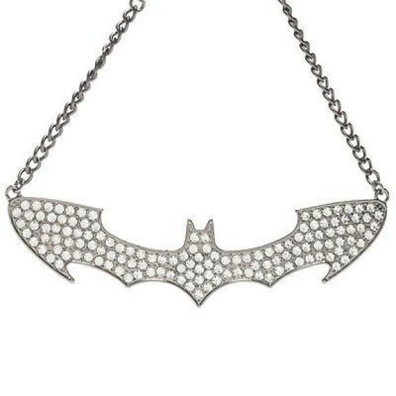Collier Batman logo cristaux