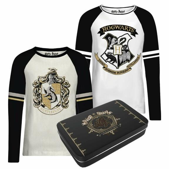 Pack de 2 T-shirts Femme Poufsouffle et Poudlard