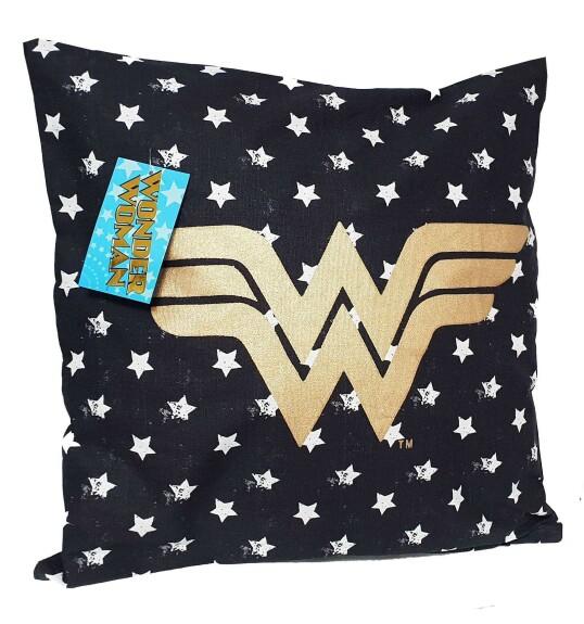 Coussin Wonder Woman logo et étoiles