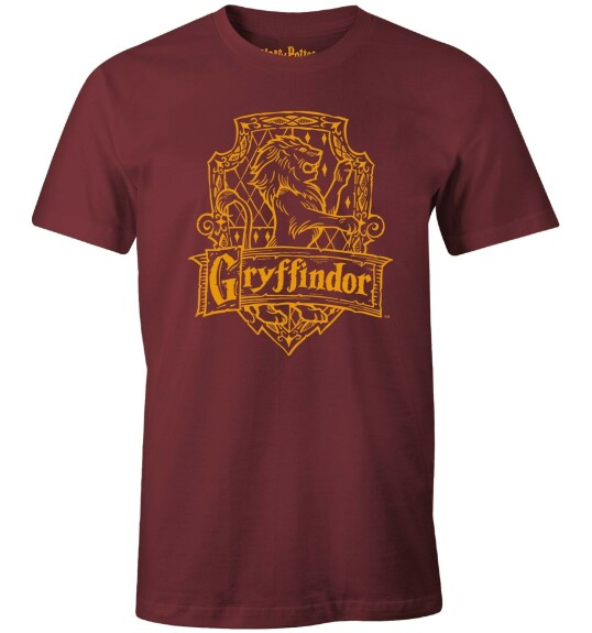 T-shirt Gryffondor Lion bordeaux