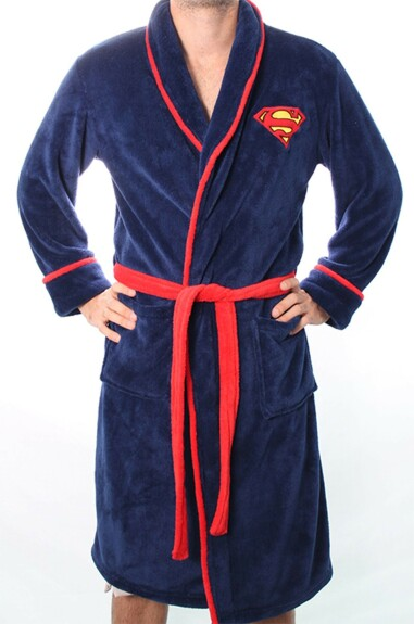 Robe de chambre Superman bleue