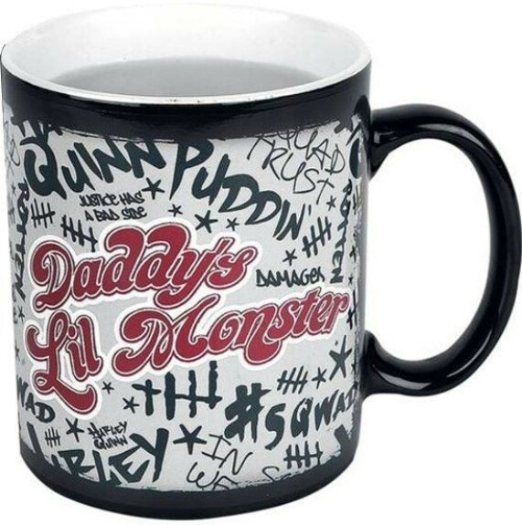 Mug Harley Quinn thermo réactif Daddy's Lil Monster