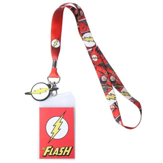 Tour de cou Flash et étui badge