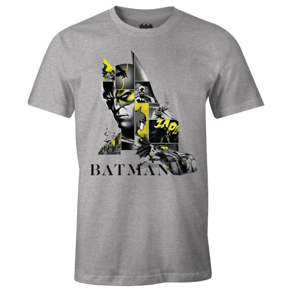T-shirt Batman Logo 80th Anniversary Gris-chiné