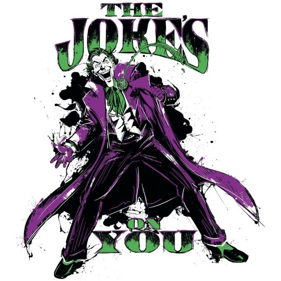 T-shirt Joker Joke's On You blanc