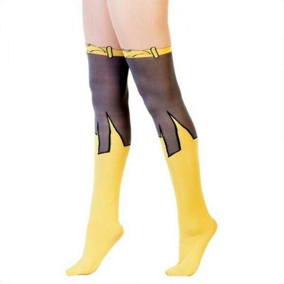 Collants Batman jaunes et noirs