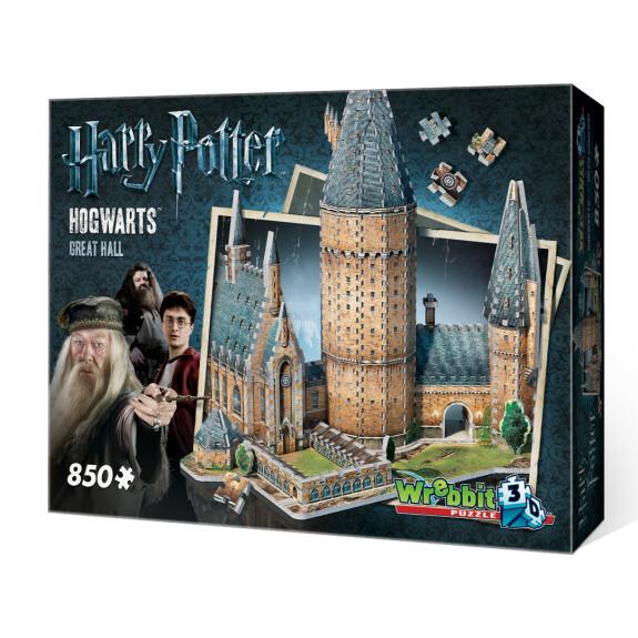 La Grande Salle de Poudlard - puzzle 3D Wrebbit 850 pièces