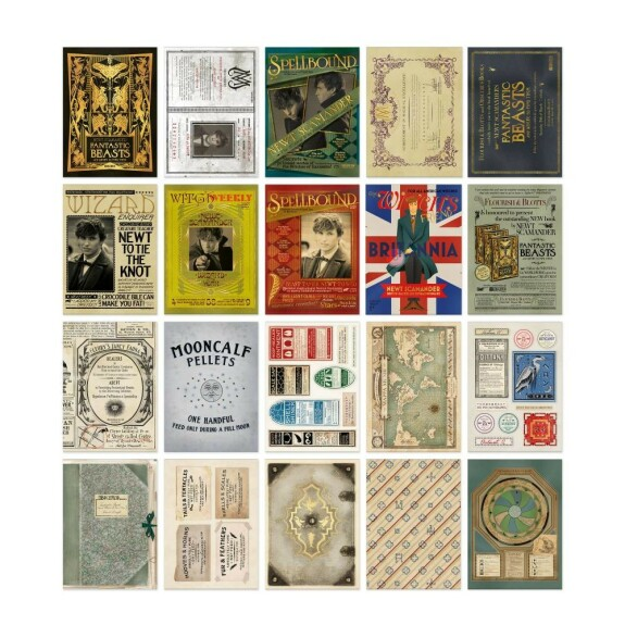 Lot de 20 cartes postales La Valise magique de Norbert Dragonneau MinaLima
