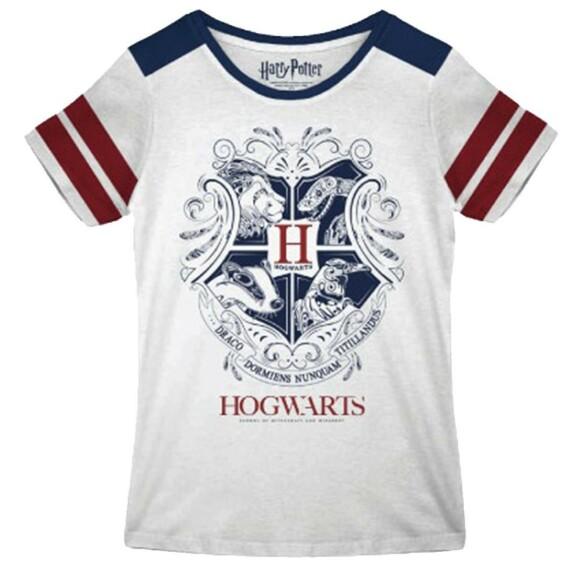 T-shirt Femme blanc emblème Poudlard