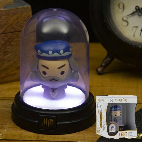 Mini lampe sous cloche figurine Dumbledore
