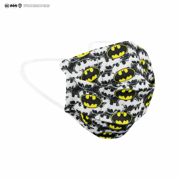 Masque Batman barrière réutilisable blanc Tissu AFNOR