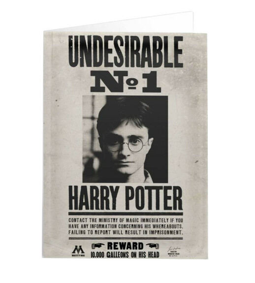 Carte de voeux lenticulaire Harry Potter Indésirable No.1 MinaLima