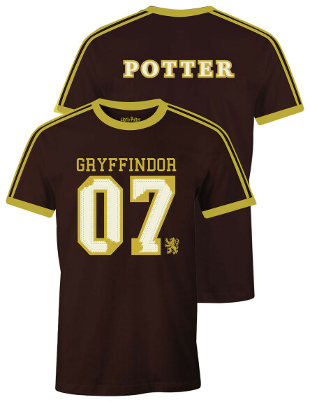 T-shirt Gryffondor noir et jaune Harry Potter