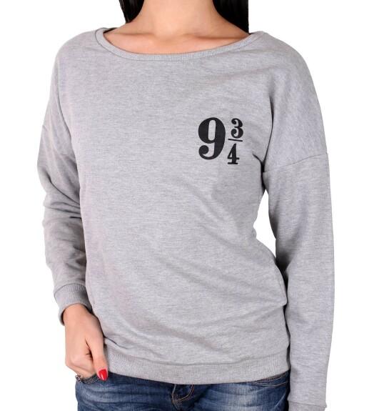 Sweatshirt Femme Quai 9 3/4 gris
