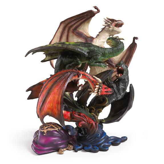 Sculpture des dragons de la première tâche
