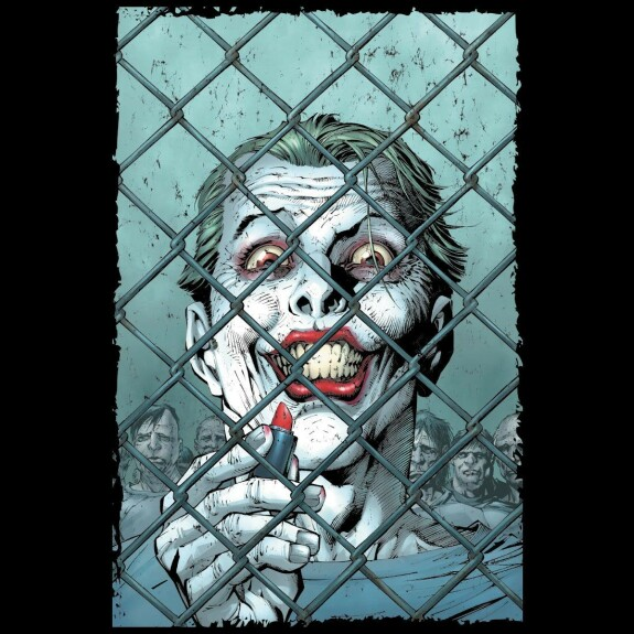 T-shirt The Joker Lipstick by Jim Lee