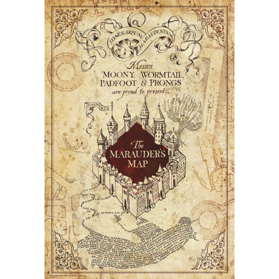 Poster Carte du Maraudeur