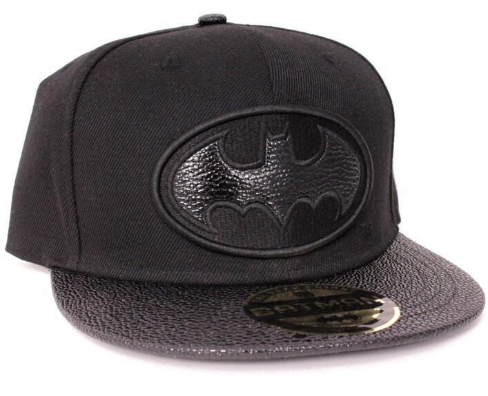 Casquette Batman noire logo façon cuir