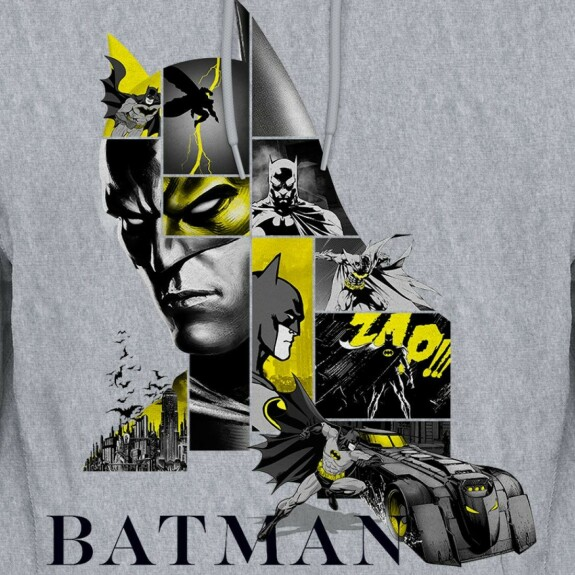 Sweatshirt Batman Logo 80th Anniversary Gris-chiné