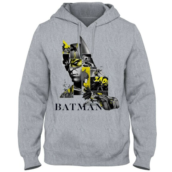 Sweatshirt Batman Logo 80th Anniversary Gris-chiné