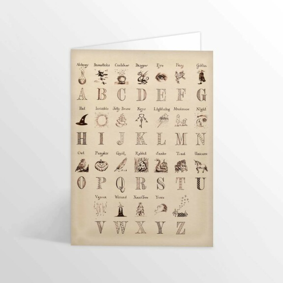 Carte 2 volets Alphabet Harry Potter MinaLima