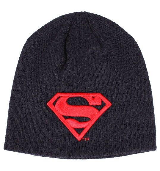 Bonnet Superman beanie logo rouge