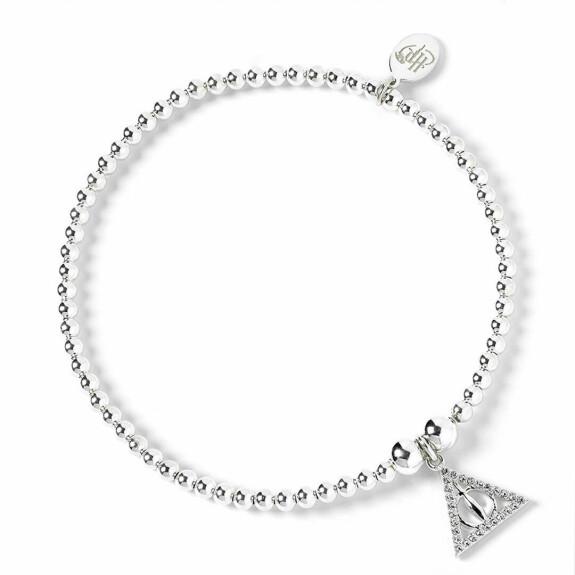 Bracelet à perles Les Reliques de la Mort Argenté avec Cristaux de Swarovski